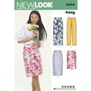 6544 New Look Pattern: Misses' Skirts and Trousers
